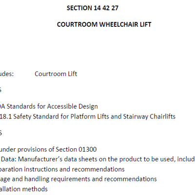 Accessor I & II Specifications